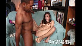 Hot Brunette Sucked A Monster Cock
