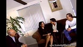 Horny Wife Fucks Two Strangers