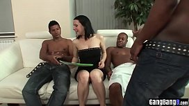 Perverted MILF swallowed some strangers big black cocks