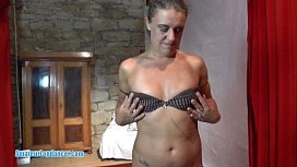 Slow striptease by czech amateur MILF