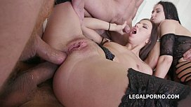 5on2 Selena Mur and Angie Moon Double Addicted with anal fist and Prolapse