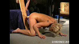 Bizarre slavesex of blonde toyslut banged by huge dildos and hardcore domination