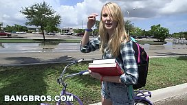Tight Lil Blondie Gets WRECKED On The Bang Bus Bb14633