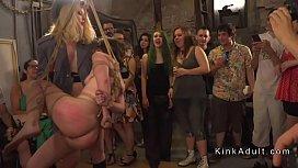 Mistresses in uniforms d. slaves in public