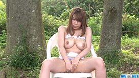 Outdoor oral porn play along big boobs Iroha Suzumura