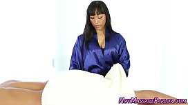 Sexy asian masseuse blow