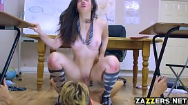 Chris Diamond ripping Nekane Sweets pussy on top