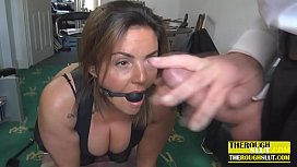 milf with big tits gets what she deserve, a small sex humiliation