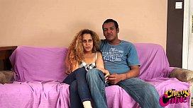 Interracial couple fuck in cam