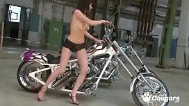 Andreya Diamond Gets Naked On A Motorcycle