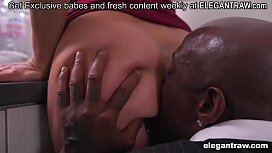 Cheating blonde cougar take big black dick up the butthole