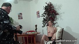 French blonde ass nailed for her amateur casting couch