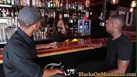 Milf bartender interracial plowed in her bar