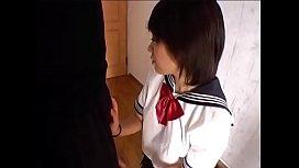 Censored Japanese school girl pantyjob assjob