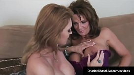 39931693: Cougars Charlee Chase & Deauxma Tongue Fuck & Blow A Cock!