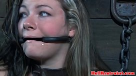 Young babe restrained by an old maledom