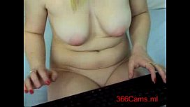 Blonde with amazing tits and dildo on Webcam for more Ca