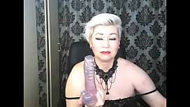 Hot dildo-show by Russian mature whore AimeeParadise....
