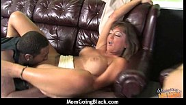Mature Mom barely takes 10 inch Black Cock 26
