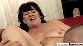 Fatty Grandma plowed by energetig big dick - Helena May