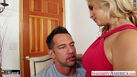 Busty babe Sarah Vandella gets trimmed quim nailed
