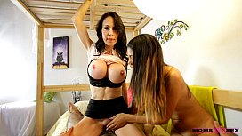 Young teen couple caught by mom