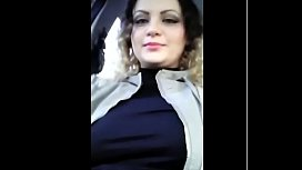 #Exhibitionist  #anabellaxxx1 #show #boobs in #car when #people #walk on #street mobile x share