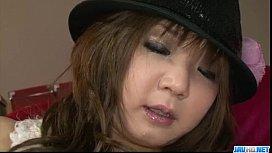 Mizuki Ishikawa tries dildo in her puffy cunt