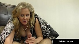Julia Ann, World Famous Milf, Strokes & Sucks A Cock in Bed! xnxx image