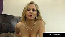 Julia Ann World Famous Milf Strokes Sucks A Cock in Bed