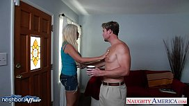 Horny blonde Bridgette B fucking her neighbor