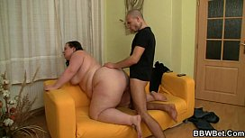 Chubby lady is picked up and do tyled