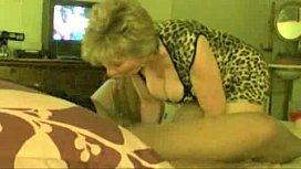 Granny Loves sucking fat black cock