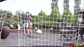 VODEU - Angelina Wild gets fucked sensually outdoor