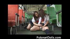 Futanari Cums all Over Herself!