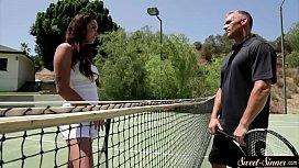 Latina stepdaughter screwed after tennis