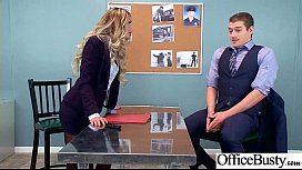 Round Big Tits Girl August Ames Get Banged In Office clip