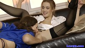 British mature fingering and licking euro gal