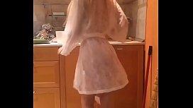 Alexandra naughty in her kitchen - Best of VK live