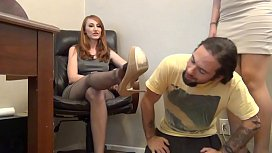 Alexis Grace and Kendra James - principle footjob