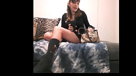 Kinky blonde with cute costume on cam livecamgalsnet