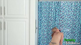 MOM Cheating with s.'_s Gun at Bathroom - FamilyStroke.net