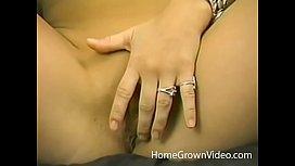 Hot blonde girlfriend sucking my thick uncut cock