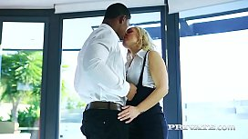 Privatecom First Interracial Experience for MILF Amber Deen