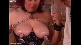 extreme rough labia stretching with german mature