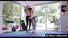 Stunning hot blonde Emma Hix passion fuck