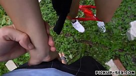Amber Faye pounded outdoors for money