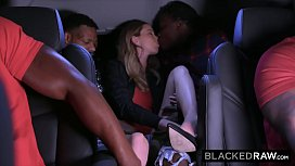 BLACKEDRAW Teen gets passed around and fucked by group of BBCs