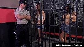 Cellmates Gabby Quinteros &amp_ Jessica Jaymes Fuck Guard!