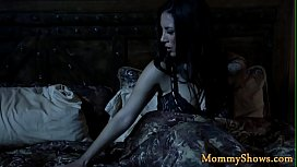 Gorgeous MILF tribbing with stepdaughter